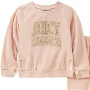 Peach Juicy Couture Embellished Child Sweater only